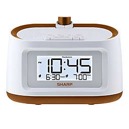 Sharp® Projection Alarm Clock in White