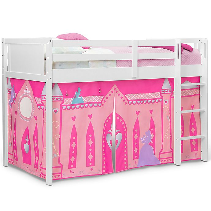 Alternate image 1 for Delta Children® Disney Princess Lofted Bed Tent in Pink