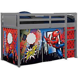 Delta Children Spider-Man Loft Bed Tent in Blue