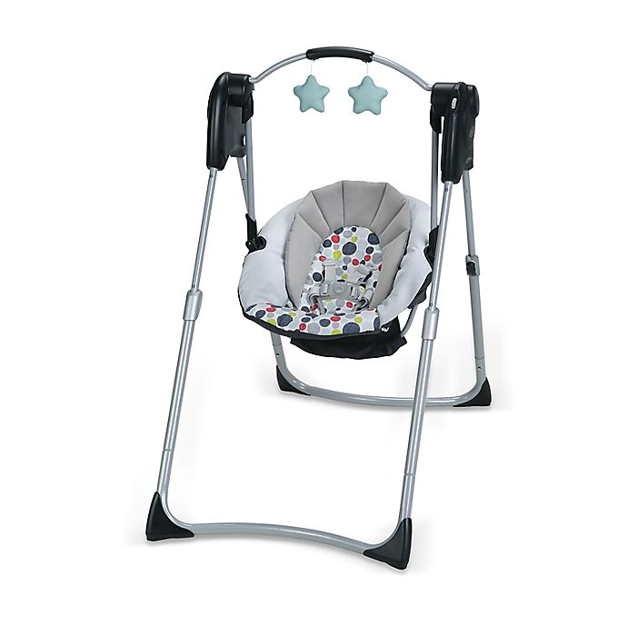 Alternate image 1 for Graco® Slim Spaces™ Compact Baby Swing in Etcher