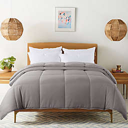 Feather and Loom Reversible Cozy Down Alternative Full/Queen Comforter in Grey