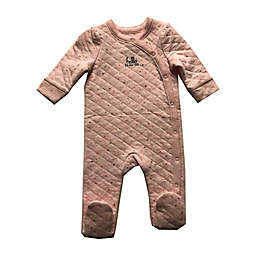 Sterling Baby Hello Quilted Footie in Pink