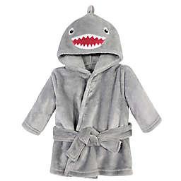 Hudson Baby® Size 0-9M Plush Shark Bathrobe in Grey