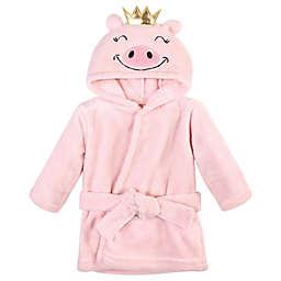 Hudson Baby® Size 0-9M Plush Pig Bathrobe in Pink