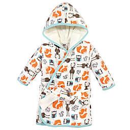Hudson Baby® Size 0-9M Neutral Forest Cotton Rich Bathrobe in Orange