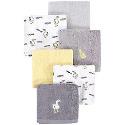 Luvable Friends® 4-Pack Goose Cotton Washcloths in Yellow