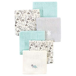 Luvable Friends® 4-Pack Sea Turtle Cotton Washcloths in Green