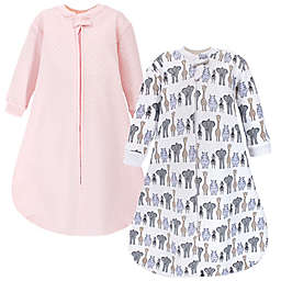 Hudson Baby® Size 18-24M Safari Quilted Long Sleeve Wearable Blankets in Pink (Set of 2)