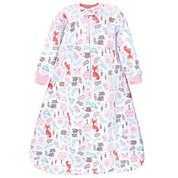 Hudson Baby® Size 0-6M Woodland Quilted Long Sleeve Wearable Blanket in Pink