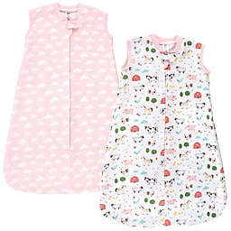 Hudson Baby® Size 18-24M Girl Farm Quilted Wearable Blankets in Pink (Set of 2)
