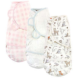 Hudson Baby® Size 0-3M 3-Pack Enchanted Forest Quilted Swaddle Wraps in Pink