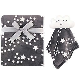 Luvable Friends® Sky Baby Blanket with Plush Cloud Toy Security Blanket Set in Grey