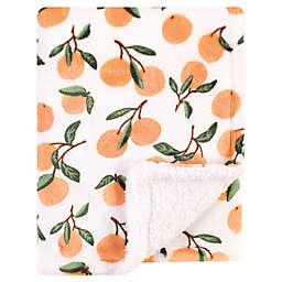 Luvable Friends® Citrus Plush Baby Blanket with Sherpa in Orange