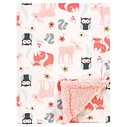 Hudson Baby® Girl Plush Sherpa Blanket in Pink
