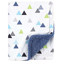 Hudson Baby® Abstract Plush Sherpa Blanket in Blue