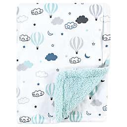 Hudson Baby® Hot Air Plush Sherpa Blaket in Blue