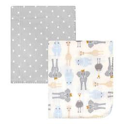 Hudson Baby® 2-Pack Royal Safari Fleece Blankets in Grey