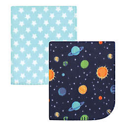 Hudson Baby® 2-Pack Solar System Fleece Blankets in Blue