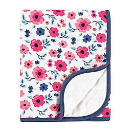 Touched by Nature Floral Organic Cotton Tranquility Blanket in Blue