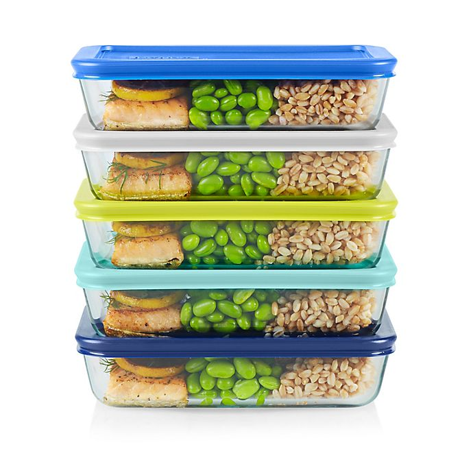 Alternate image 1 for Pyrex® 10-Piece Glass Meal Prep Storage Set