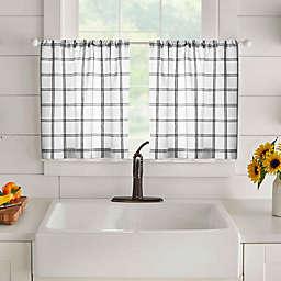 Elrene Farmhouse Living Plaid Curtain Tier Pair