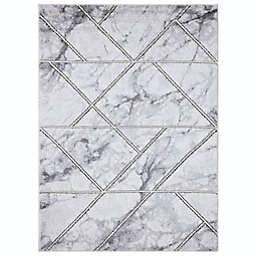 Concord Global Trading Bellucci Geometric 6'7 x 9'3 Area Rug in Gold