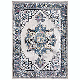 Concord Global Trading Barclay 6'7 x 9'3 Medallion Area Rug in Ivory