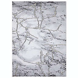 Concord Global Trading Dallas Abstract Rug in Grey