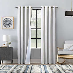 Commonwealth Home Fashions 95-Inch Bedford Blackout Curtain Panels in White (Set of 2)