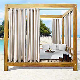 Commonwealth Home Fashions Seascapes Stripe Outdoor Grommet Top Curtain Panel (Single)