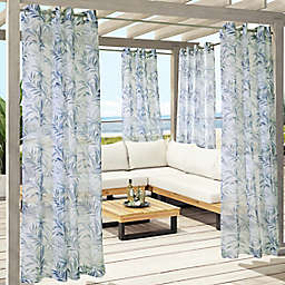 Commonwealth Home Fashions Antigua Botanical Grommet Outdoor Curtain Panel (Single)