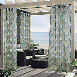 Commonwealth Home Fashions Bonaire Botanical Grommet Outdoor Curtain Panel (Single)