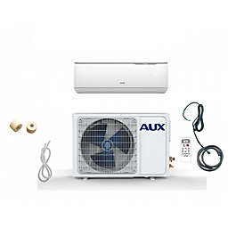 AUX 24,000 BTU Ductless Mini Split Air Conditioner with Heat Pump and 25-Foot Line in White