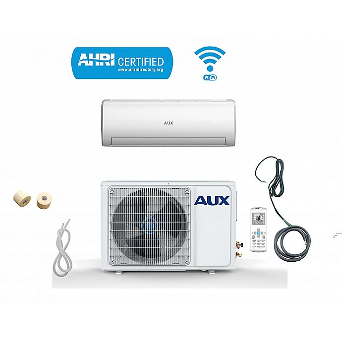 Alternate image 1 for AUX 36,000 BTU Ductless Mini Split Air Conditioner with Heat Pump, 25-Foot Line and WIFi Control
