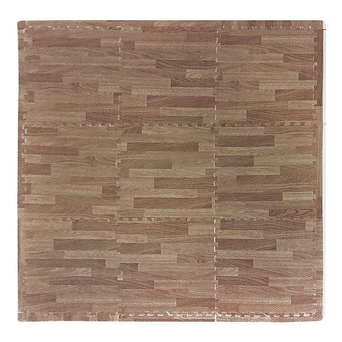 Alternate image 1 for Tadpoles™ by Sleeping Partners Wood Grain 9-Piece Foam Playmat Set in Natural