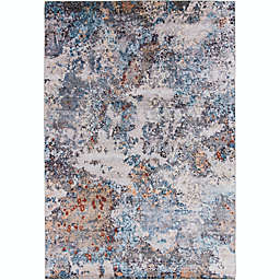 Stivelly 7'10 x 9'10 Area Rug in Navy/Ivory