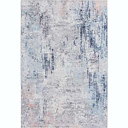 Stivelly 7'10 x 9'10 Area Rug in Navy/Charcoal