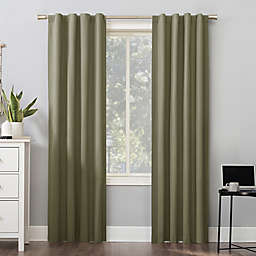 Sun Zero® Cyrus Thermal Total Blackout 96-Inch Curtain Panel in Olive Green (Single)