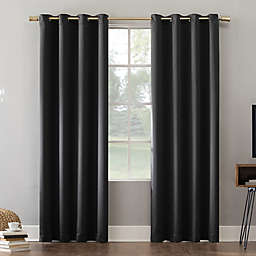 Sun Zero® Oslo Extreme Total Blackout 108-Inch Grommet Curtain Panel in Coal (Single)