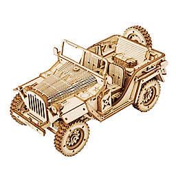 Hands Craft Jeep Army Car 369-Piece DIY 3D Wooden Puzzle