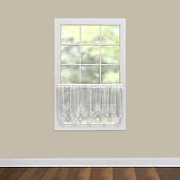 Heritage Lace® Tea Rose 30-Inch Window Curtain Tier in White