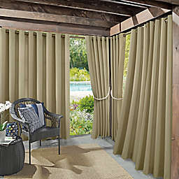 Sun Zero® Dermot Indoor/Outdoor UV Protectant 84-Inch Curtain Panel in Linen (Single)