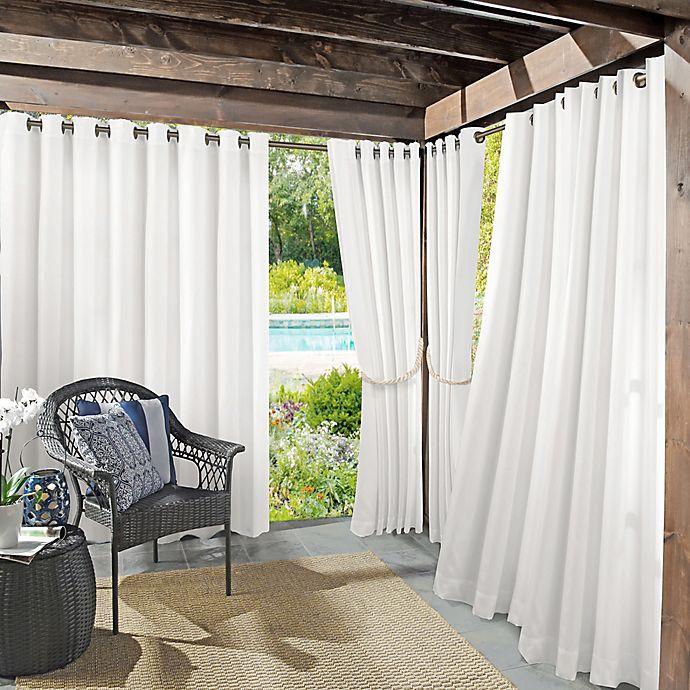 Alternate image 1 for Sun Zero Dermot Indoor/Outdoor UV Protectant Grommet Curtain Panel