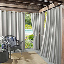 Sun Zero Owen Cabana Stripe Indoor/Outdoor UV Protectant Grommet Curtain Panel (Single)