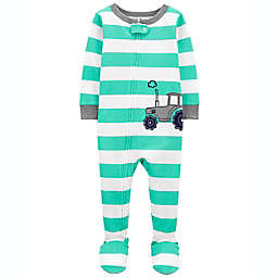 carter's® Cotton 2-Way Zip Sleep & Play Footed Pajama