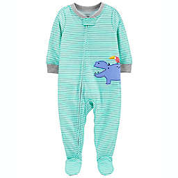 carter's® Zip-Front Footed Pajama