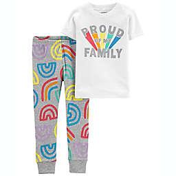 carter's® 2-Piece Striped Proud Family Pajama Set
