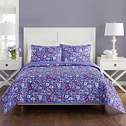 Vera Bradley® Enchanted Garden King Quilt Set in Purple