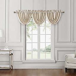Waterford® Valetta Waterfall Cascading Valances in Ivory (Set of 3)