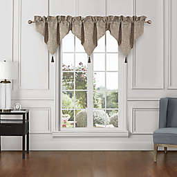 Waterford® Spencer Ascot Window Valances in Ivory (Set of 3)